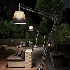 Halogen aluminium Floor lamp SUPERARCHIMOON OUTDOOR by FLOS design Philippe Starck