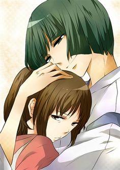 Haku x chihiro. This is so cute!