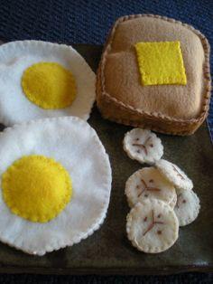 Felt food breakfast. Find more of my work at http://www.etsy.com/shop/BarefootChildDesigns