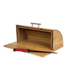 Another great find on #zulily! Bamboo Cutting Board Bread Box by home basics #zulilyfinds