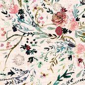 Fable Floral (blush) JUMBO by nouveau_bohemian