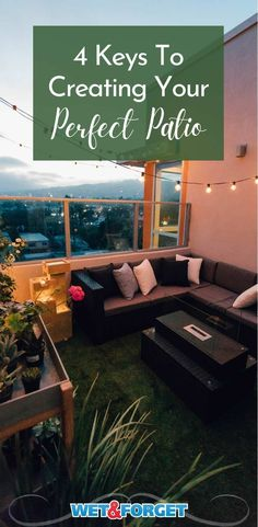 Four things you need to know about creating the perfect patio. Patio Design, House Design, Your Perfect, Beautiful Homes, Create Yourself, Outdoor Living, Living Spaces, Diy Projects, Factors