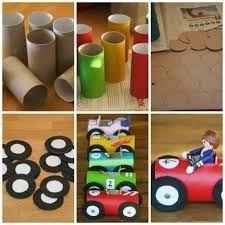 Easy Toddler Crafts using Toilet Paper Rolls - Kids Art & Craft Kids Crafts, Toddler Crafts, Preschool Crafts, Diy And Crafts, Arts And Crafts, Craft Kids, Race Car Birthday, Cars Birthday Parties, Diy Birthday
