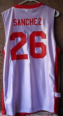 1265db8f3 New Mexico Lobos Basketball Jersey Sanchez Game Used Home Away Reversible
