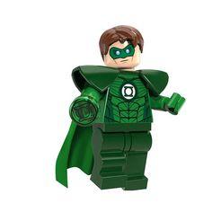 Custom Green Lantern Mini Figure to fit well known brand UK by BunkysVintageCrafts on Etsy Lego Dc, Lego Marvel, Marvel Avengers, Superman, Lego Custom Minifigures, Lego Minifigs, Green Lantern Comics, Dc Comics, Building Blocks Toys