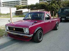 '74 Datsun Sunny Pickup w/ 09racing dry-carbon Hakosuka ...