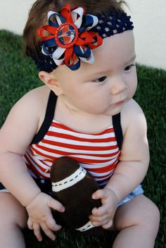 New England Patriots Inspired Bottle Cap Hair Bow and Headband - need to  get one of these for my baby girl! 7242cf32c