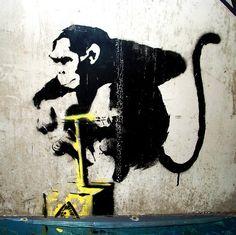 banksy, graffiti art