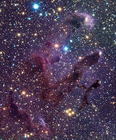 A different view of the M16 Eagle Nebula, a young open cluster of stars in the constellation Serpens.