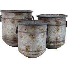 Selectives Clayton 3-Piece Metal Pot Planter Set