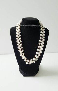 Hey, I found this really awesome Etsy listing at https://www.etsy.com/listing/262865850/white-pearl-necklace-chunky-bib-necklace