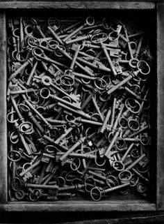 Skeleton Keys - to be mounted for display or set out in a zinc bowl on a coffee table - conversation ..