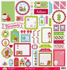 Santa Express Collection Launch & Giveaway from Doodlebug Design - santa express this & that sticker