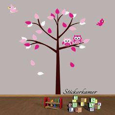 Muurstickers Bomen meisjeskamer (roze) ✓scherp geprijsd ✓Bestel eenvoudig online ✓snel thuisbezorgd