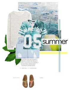 """""""Summer's here!"""" by juhh ❤ liked on Polyvore featuring Hedi Slimane, Chanel, Bashian, T By Alexander Wang, SJYP, Dolce&Gabbana and Birkenstock"""