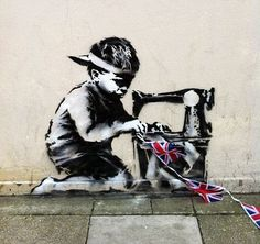 Banksy, London, Diamond Jubilee but placement may reveal more about child labor laws