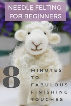 Ever wondered how to create those cute finishing touches to your needle felting projects? It's so simple and this needle felting tutorial will show you how. Ideal for needle felting beginners or those of you that want to improve your skills. Wool Needle Felting, Needle Felting Tutorials, Needle Felted Animals, Wet Felting, Felt Animals, Felted Wool Crafts, Felt Crafts, Felted Slippers, Felt Diy