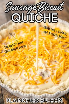 Quiche Recipes, Brunch Recipes, Breakfast Recipes, Sausage Recipes, Breakfast Casserole, Breakfast Quiche, Brunch Ideas, Yummy Recipes, Recipies
