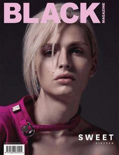 Andrej Pejic na capa da Black Magazine