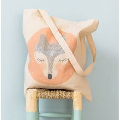 Tote bag Renard - My Lovely thing Creations, Fox, Projects, Accessories, Dimensions, Tote Bags, Couture, Shopping, Birth