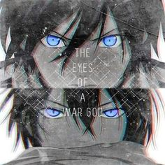 The eyes of a WAR GOD.... I love Yato's eyes... <3 #anime #Noragami