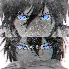 The eyes of a WAR GOD.... I love Yato's eyes... <3 #anime #Noragami