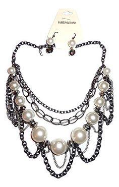 Multi Strand Necklace Earrings Set Z39 Ivory Pearl Chunky Burnish Silver Tone Bib Style Recyclebabe Necklace Sets http://www.amazon.com/dp/B012P24GGO/ref=cm_sw_r_pi_dp_Uq.Tvb12J3AHS