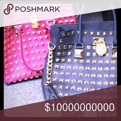 Michael kors studded hamilton collection Trying to start a collection of mk studded hamilton purse I have pink and blue I want the late pink wallet and wristlet at reasonable prices not selling Michael Kors Bags Shoulder Bags