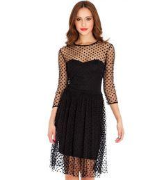 Take a look at this City Goddess: Black Spotty Mesh Prom Dress by City Goddess on today! Black Prom Dresses, Dresses Uk, Pretty Dresses, Evening Dresses, Short Dresses, Dress Black, Dress Brokat, Amanda, Urban Fashion Women