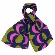 Wrap this around your hair on a windy day for an old Hollywood glamour look. Marimekko Vampula Chartreuse Scarf