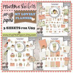 Planner Girl, Planner Stickers, Kawaii Stickers, Planner Icons, Planner Accessories, Plan, Erin Condren, Cute Stickers, Printable Stickers