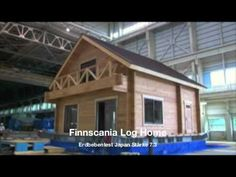 Factory made log cabins have become fashionable vacation homes. Blockhaus Erdbeben log home earthquake test - YouTube