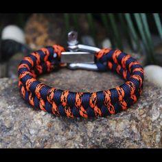 #paracord #bracelet black and orange