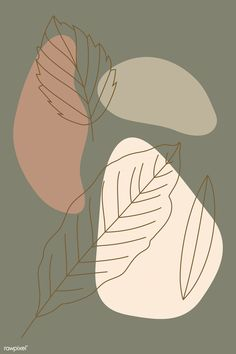Leaf line art patter L Wallpaper, Cute Patterns Wallpaper, Wallpaper Backgrounds, Vintage Backgrounds, Pretty Backgrounds, Summer Backgrounds, Backgrounds Free, Wallpaper Ideas, Art Background