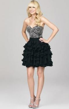Amazing Short Black Tailor Made Cocktail Prom Dress (LFNAC1432) http://www.marieprom.co.uk/