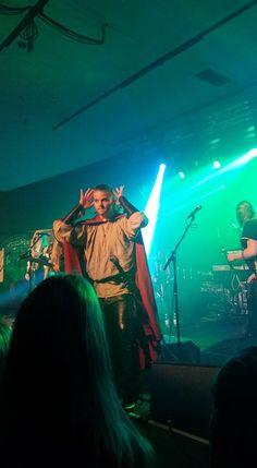 Chrileon - Twilight Force ⚫ Photo by Päivi Muurtamo ⚫ Huskvarna 2016 ⚫ #TwilightForce #music #metal #concert #gig #musician #Chrileon #singer #vocalist #frontman #singing #microphone #bracers #coat #leather #beard #earrings #blond #longhair #festival #photo #fantasy #magic #cosplay #sword #larp #man #onstage #live #celebrity #band #artist #performing #Sweden #Swedish #Huskvarna #FolketsPark