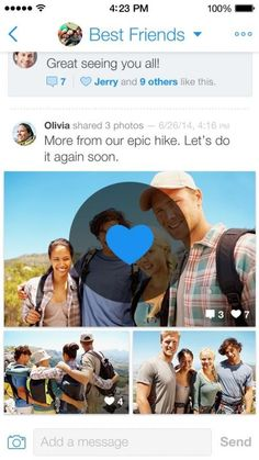BeamIt photo messaging app for iOS