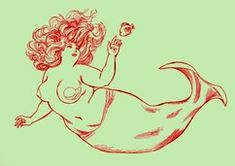 Fat Mermaid - i saw this YEARS ago, flipped, as a tattoo on someone's back. <3 it