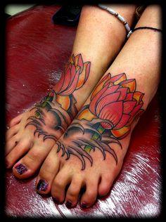 "Home "" tattoo designs "" lotus foot tattoos flower tattoos - Red Lotus Tattoo, 3d Rose Tattoo, Lotus Flower Tattoo Design, Lotus Tatoos, 3d Flower Tattoos, Flower Tattoo Foot, Flower Tattoo Shoulder, Foot Tattoos For Women, Tattoo Designs For Women"