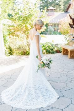 Swooning over this lace dress: http://www.stylemepretty.com/little-black-book-blog/2014/12/29/rustic-elegance-at-willowdale-estate/ | Photography: Erin McGinn - http://www.erinmcginn.com/