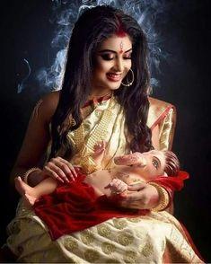 Ganesh Lord, Shri Ganesh, Durga Maa, Shiva Shakti, Hanuman, Indian Goddess Kali, Durga Goddess, Indian Gods, Goddess Art