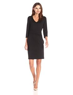 Lark & Ro Women's Ponte 3/4 Sleeve Sheath Dress #Wedding-Dresses http://www.weddingdealusa.com/lark-ro-womens-ponte-34-sleeve-sheath-dress/14656/?utm_source=PN&utm_medium=jillweddings+-+wedding+dresses&utm_campaign=Wedding+Deal+USA