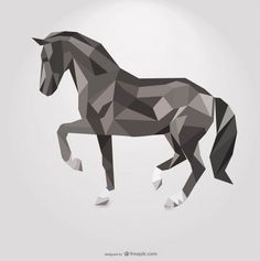geometric horse tattoo - Google Search