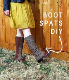 Spiffy Boot Spats Tutorial