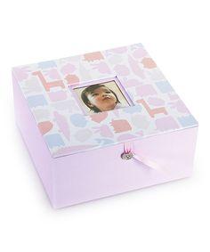 Pearhead Pink Animal Keepsake Box by Pearhead #zulily #zulilyfinds