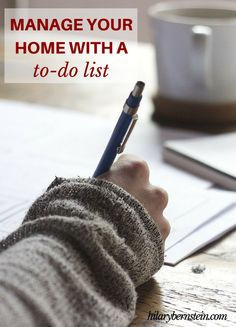 As I try to manage my home in the middle of life's busyness, I've found the only way I can stay on track is with the help of to-do lists.