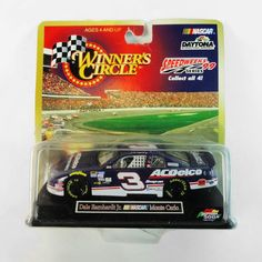 Dale Earnhardt Jr. No. 3 AC Delco Chevy Monte Carlo - NCC307 - Dale Earnhardt, Jr. No. 3 AC Delco Chevy Monte Carlo Stock Car.  Hasbro Winner's Circle Daytona 500 Speedweeks Series 99. Package never opened FOR SALE