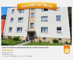 Verkaufsangebot einer Eigentumswohnung in Hannover Ahlem - aufgenommen und gepinnt vom Immobilienmakler in Hannover: arthax-immobilien.de