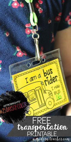 {Free} How are you going home? Transportation Printable to use for the first weeks of school.