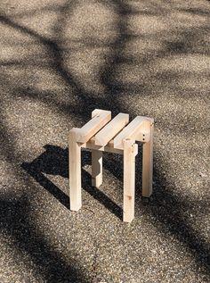 Dear M by Romain Voulet Furniture Making, Diy Furniture, Asian Interior, Bespoke Furniture, Wood Screws, My Design, Outdoor Decor, Photography, Stool